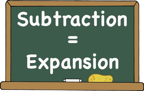 Subtraction = expansion