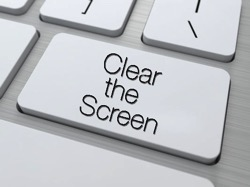 Clear the screen